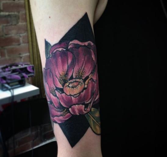 Floral arm piece