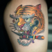 Traditional Tiger and Dagger on Thigh thumbnail
